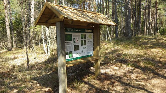Viidumäe, Allikasoo trail, info stands at springfen, 20th of May 2017